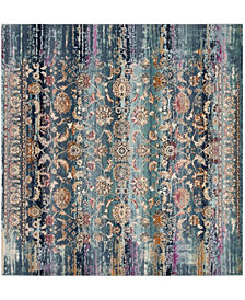 "Safavieh Baldwin Teal and Beige 6'7"" x 6'7"" Square Area Rug"