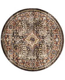 "Safavieh Bijar Brown and Rust 6'7"" x 6'7"" Round Area Rug"