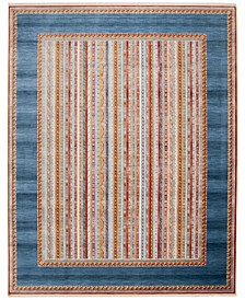 Bokhara Blue and Orange 8' x 10' Sisal Weave Area Rug