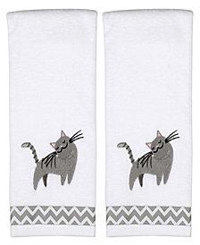 Cat 2 Piece Hand Towel Set