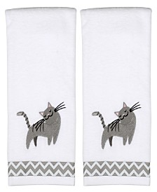 Cat 2 Piece Hand Towel Set