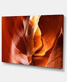 "Designart Sunshine In Antelope Canyon Landscape Photo Canvas Art Print - 32"" X 16"""