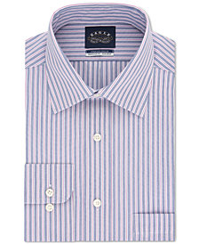 Eagle Men's Classic/Regular Fit Non-Iron Stretch Collar Stripe Dress Shirt