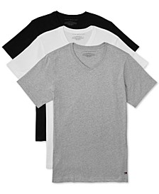 Men's 3 Pack Slim-Fit V-Neck Cotton Undershirt