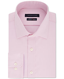 Tommy Hilfiger Men's Fitted Performance Stretch TH Flex Collar Solid Dress Shirt
