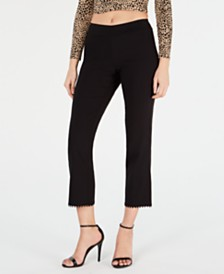 HUE® Crochet-Hem Loafer Skimmer Leggings