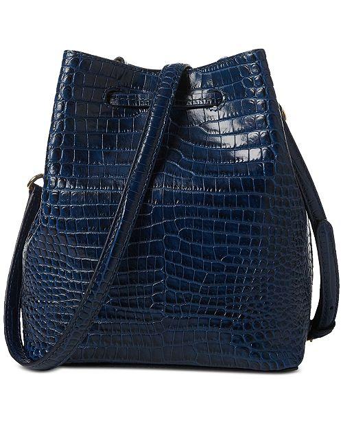 0eb18353b314 Lauren Ralph Lauren Dryden Mini Debby II Drawstring Crocodile-Embossed Leather  Bag ...