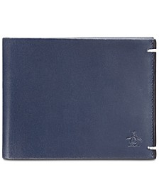 Men's Navy Leather Wallet
