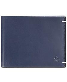 Penguin Men's Navy Leather Wallet