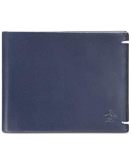 Original Penguin Penguin Men's Navy Leather Wallet