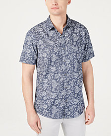 I.N.C. Men's Floral Jacquard Shirt, Created for Macy's