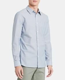 Calvin Klein Men's Slim-Fit Stretch Micro-Stripe Shirt