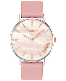 COACH Women's Mother of Pearl Perry Watch,