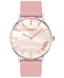 COACH Women's Mother of Pearl Perry Watch, Created for Macy's