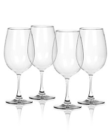 TarHong Cocktail Classic Plastic Wine Glasses, Set of 4