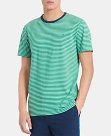 Calvin Klein Men's Stripe Pima Cotton Ringer T-Shirt