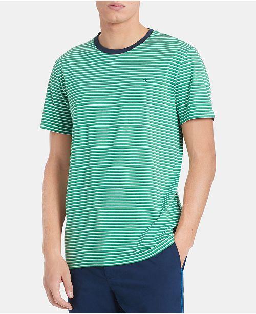 Calvin Klein Men's Stripe Pima Cotton Ringer T-Shirt