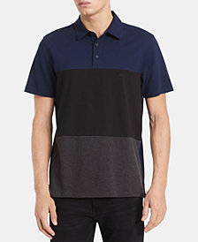 Calvin Klein Men's Regular-Fit Colorblocked Engineered Stripe Polo Shirt