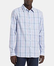 Calvin Klein Men's Big & Tall Slim-Fit Plaid Shirt