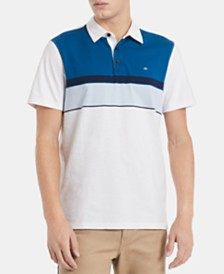 Calvin Klein Men's Colorblocked Engineered Stripe Polo Shirt