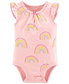Carter's Baby Girls Rainbow-Print Cotton Bodysuit