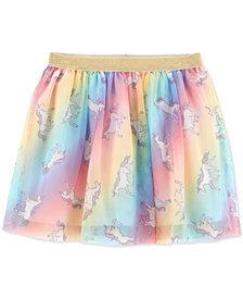 Carter's Little Girls Rainbow Unicorn Tutu Skirt