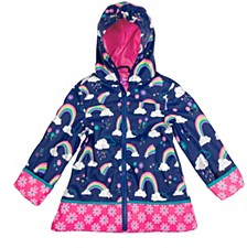 Little Girl Rainbow Print Raincoat