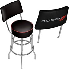 Dodge Swivel Bar Stool with Back
