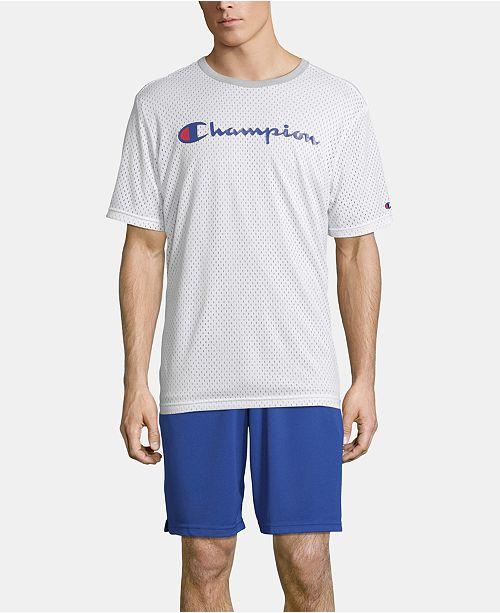 Champion Men's Double Dry Reversible Mesh T-Shirt