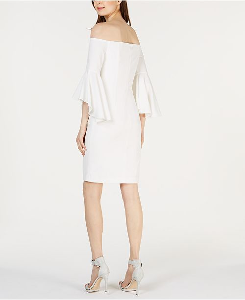 4ddf7dfc6ed Calvin Klein Off-The-Shoulder Sheath Dress & Reviews - Dresses ...