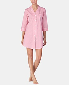 Woven Cotton Sleepshirt Nightgown