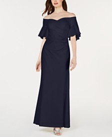Calvin Klein Sweetheart Off-The-Shoulder Gown