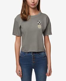 O'Neill Juniors' Geo Pine Cotton Graphic-Print T-Shirt