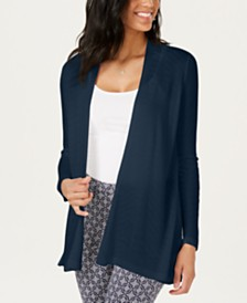 Charter Club Geo-Stitch Open-Front Cardigan, Created for Macy's