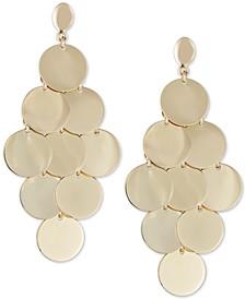 Multi-Disc Dangle Drop Earrings in 14k Gold-Plated Sterling Silver