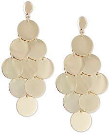 Multi-Disc Dangle Drop Earrings in 14k Gold-Plated Sterling Silver