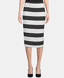 ECI Striped Pencil Skirt