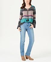6b5e6e2a559 Style & Co Geo-Print Peasant Top & Tummy-Control Jeans, Created for