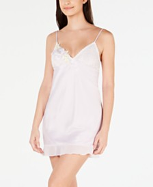 Linea Donatella Satin Chemise Nightgown