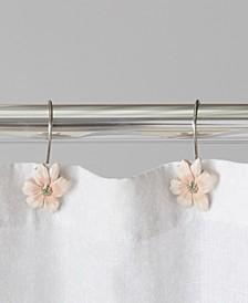 Ltd. Misty Floral Shower Curtain Hooks
