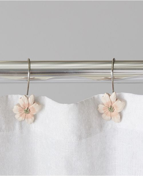 Saturday Knight Ltd. Misty Floral Shower Curtain Hooks