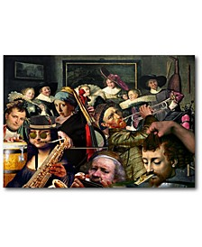"""Dinner Music Gallery-Wrapped Canvas Wall Art - 18"""" x 26"""""""