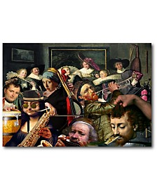 """Courtside Market Dinner Music Gallery-Wrapped Canvas Wall Art - 18"""" x 26"""""""