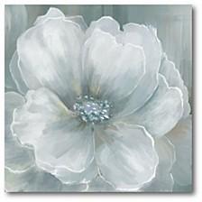 "Grey Flower II Gallery-Wrapped Canvas Wall Art - 30"" x 30"""