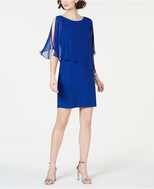 8b1f4a75511b MSK Rhinestone-Trim Chiffon Popover Dress & Reviews - Dresses ...