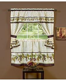 Tuscany Cottage Window Curtain Set, 57x24