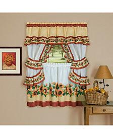 Black Eyed Susan Cottage Window Curtain Set, 57x36