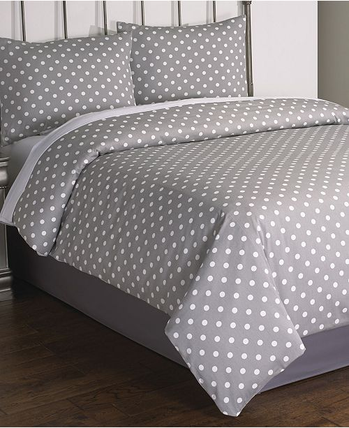 Riverbrook Home Dotty 2 Pc Comf St Twin Gray