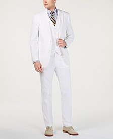 Men's Modern-Fit THFlex Stretch Solid White Suit Separates