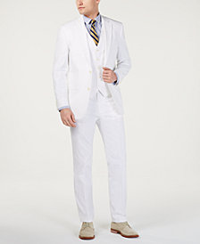Tommy Hilfiger Men's Modern-Fit THFlex Stretch Solid White Suit Separates